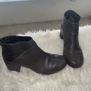 Camper chunky block heel leather boots booties